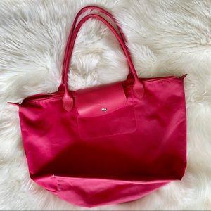 Longchamp pink large tote bag